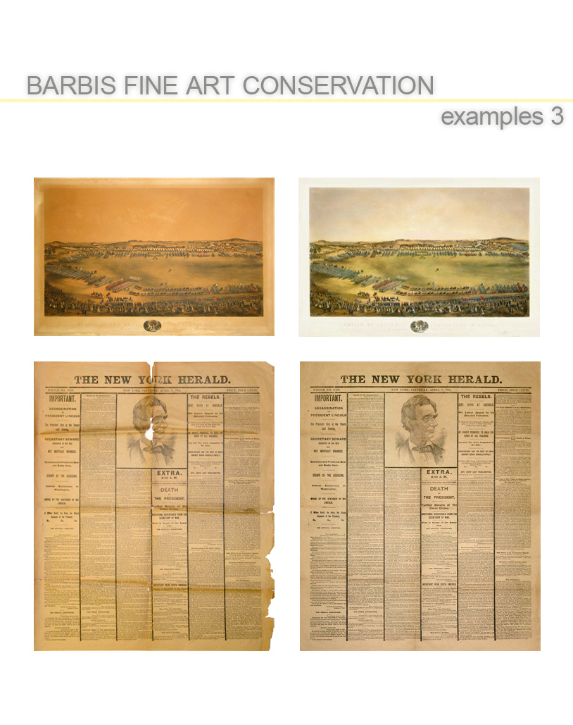 Barbis Fine Art Conservation: More examples of artwork that has been restored